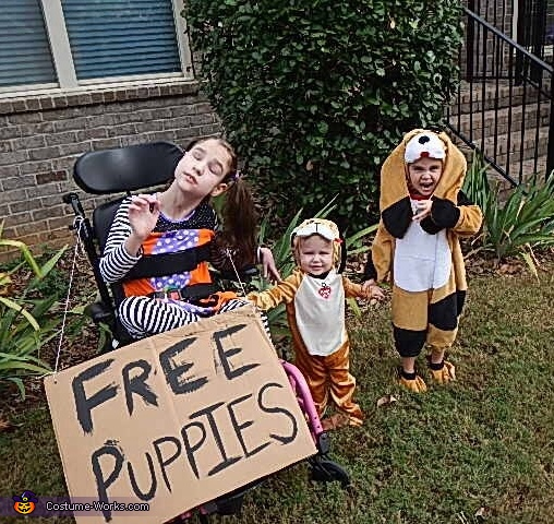Sister and Free Puppies Costume