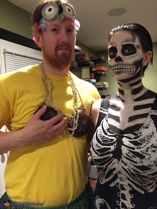 DIY Skeleton Adult Costume