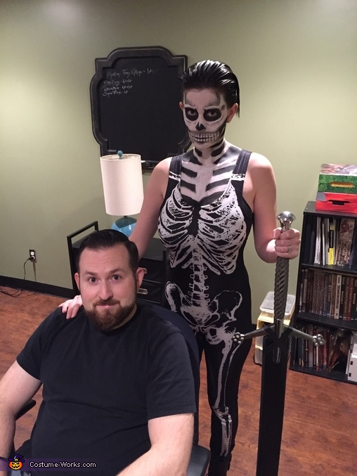 DIY Skeleton Adult Costume
