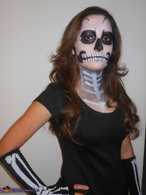 Homemade Skeleton Costume