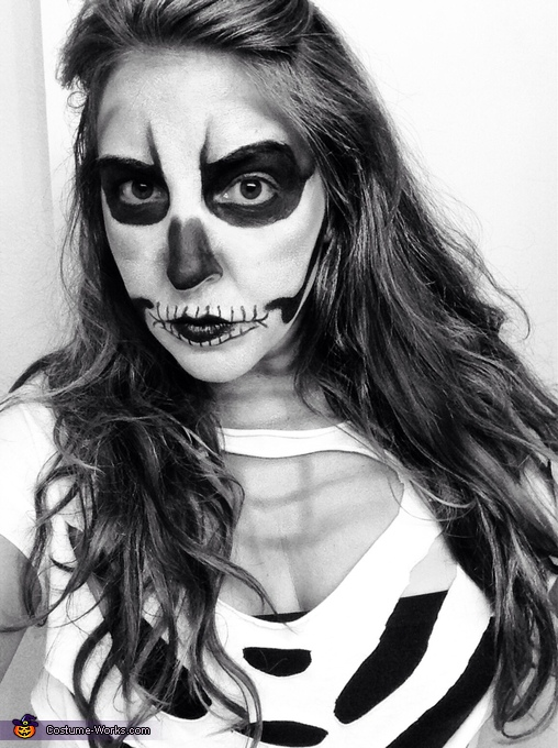 Homemade Skeleton Costume for Women
