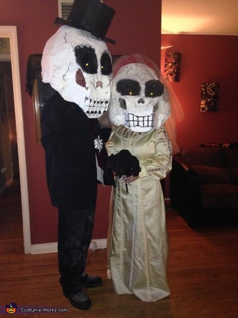 Skeleton Bride and Groom Costume