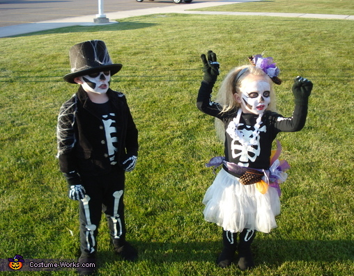 Skeleton Children Costume