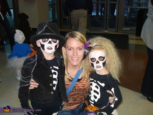Check out her hair in this one, Skeleton Children Costume