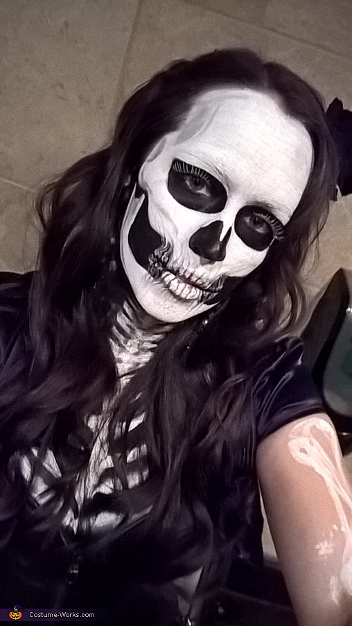 Skeleton Girl Homemade Costume
