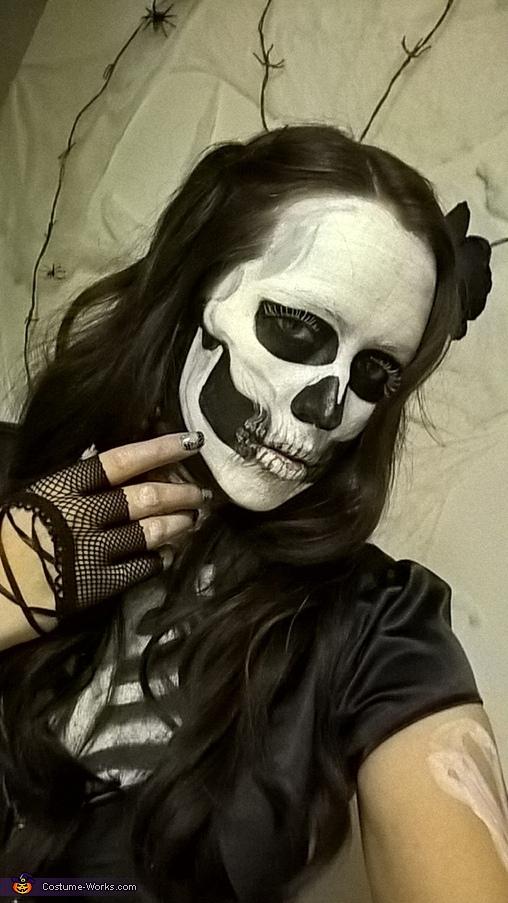 Skeleton Girl Homemade Costume