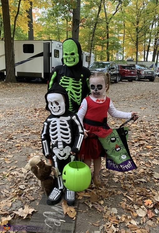 Skeleton in the Campground Costume