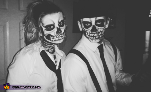 Till death do us part, Skeleton Mafia Couple Costume