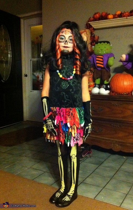 Skelita Calaveras Costume  sc 1 st  Costume Works & Monster High Skelita Calaveras Costume