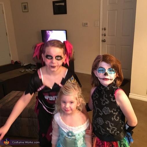 Skelita, Elsa, & Zombie Cheerleader Costume
