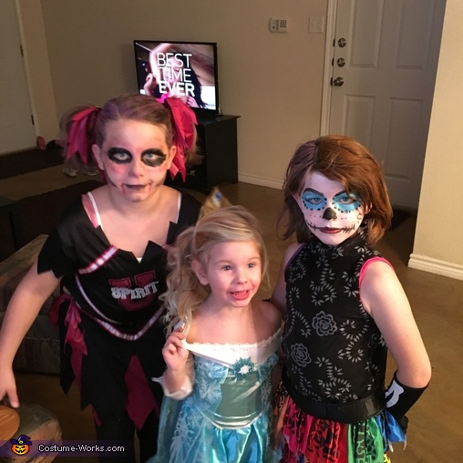 Scary, Skelita, Elsa, & Zombie Cheerleader Costume
