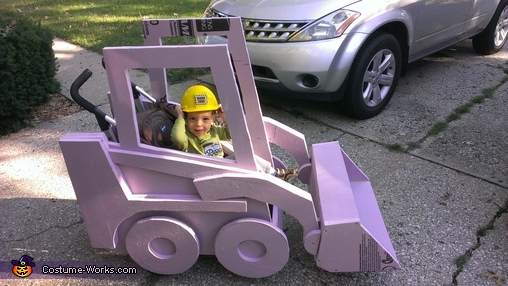 Before Painting - Pink Bobcat!, Skid Steer Costume
