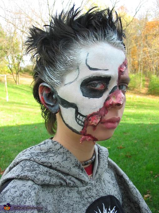 Skull Half Face Right side of face, Skull Half Face Costume