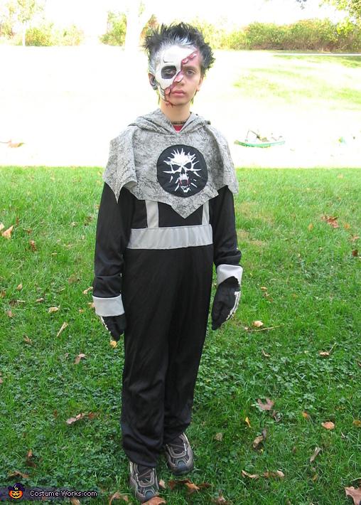 Whole costume, Skull Half Face Costume