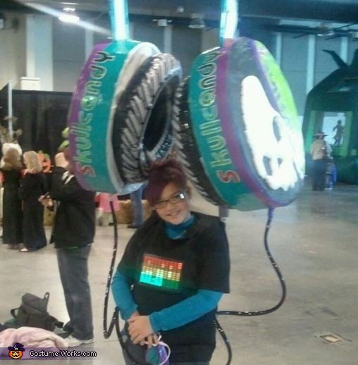 Homemade Skullcandy Headphones Costume