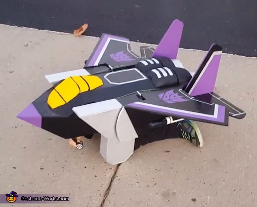 Skywarp Transformer Costume