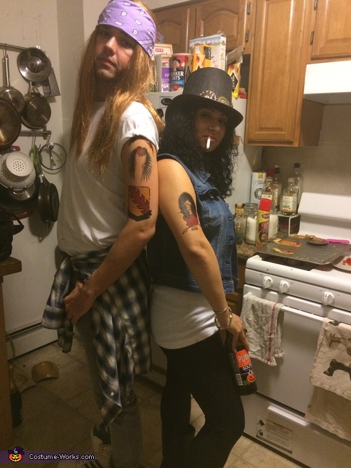 Rock N Roll duo, Slash and Axl Rose Couples Costume
