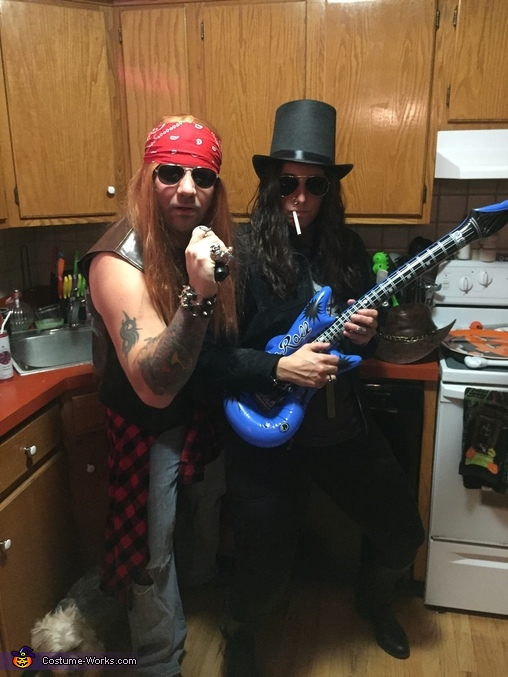 Slash & Axl from Guns N Roses Costume