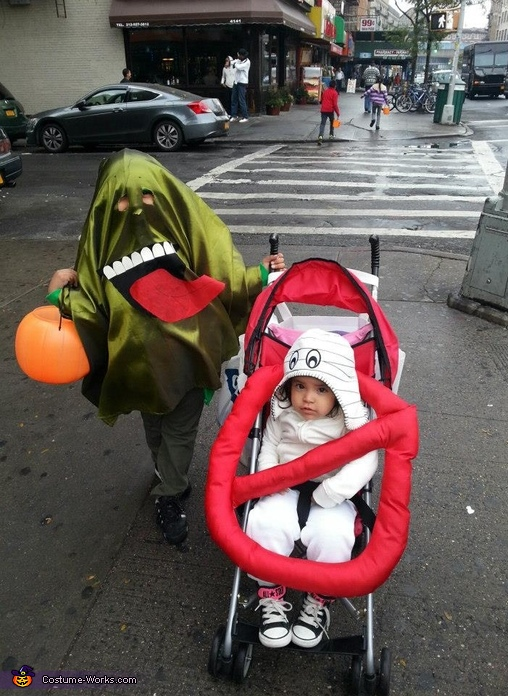Slimer and the Ghostbuster Sign Costume