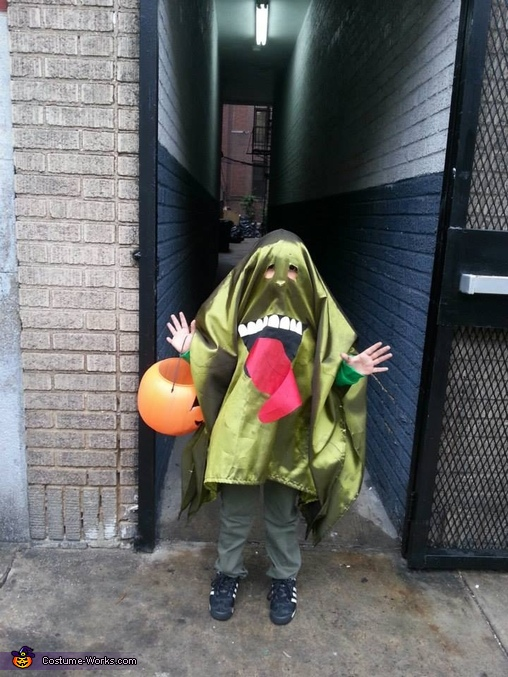 Slimer, Slimer and the Ghostbuster Sign Costume