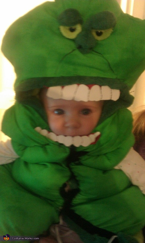 added bottom teeth, Slimer from Ghostbusters Costume