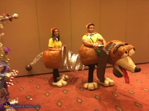 Slinky Dog Homemade Costume & Slinky Dog Couple Costume - Photo 2/3