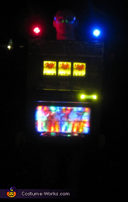 Finished with the lights on,  Slot Machine Costume
