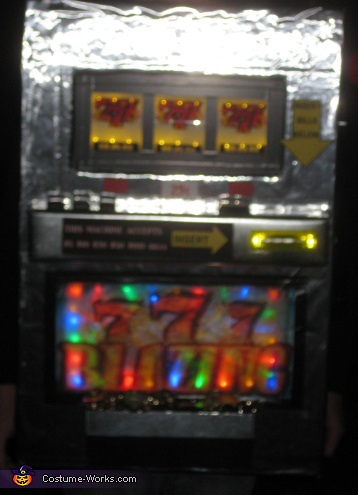 Close up with the lights on ,  Slot Machine Costume