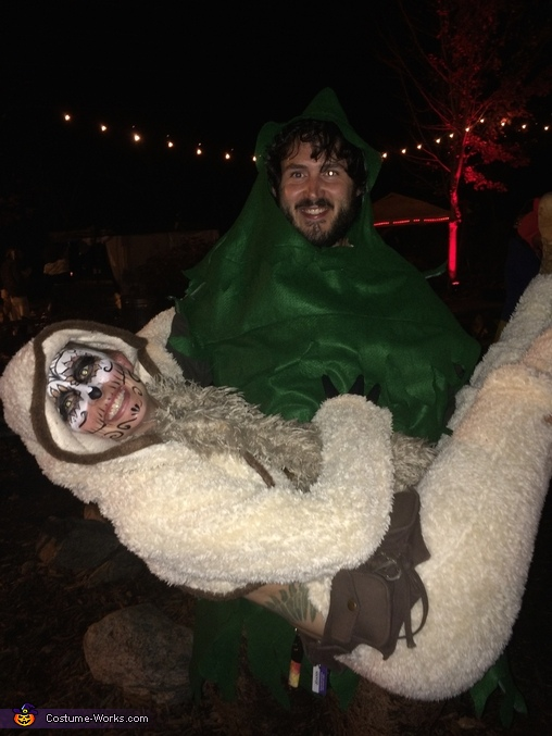 Sloth and Tree Homemade Costume