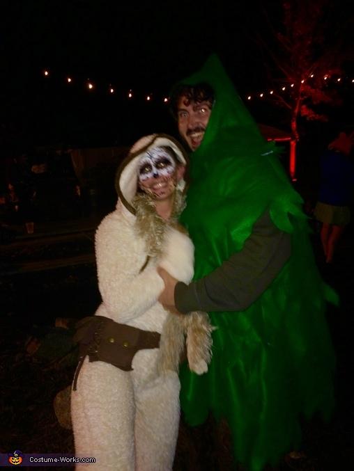 Sloth and Tree Homemade Costume