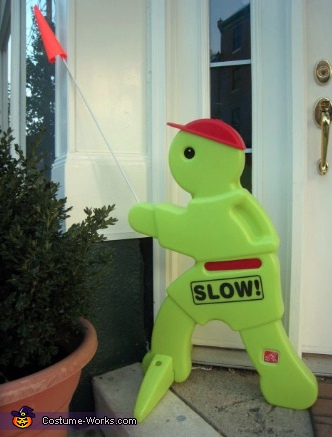 Homemade Slow Man Costume