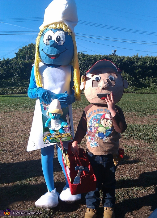 Smurfette - Homemade costumes for couples