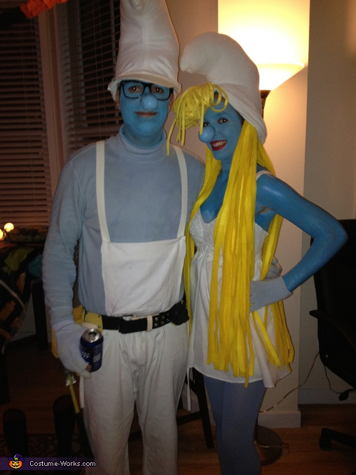 Smurfette and Handy Smurf (who unfortunately lost his pencil), Smurfette Costume