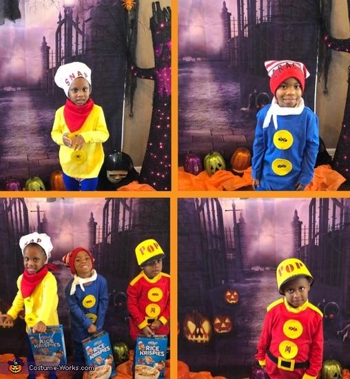 Snap Crackle Pop Homemade Costume