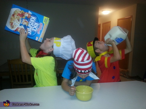 Snap, Crackle & Pop Homemade Costume