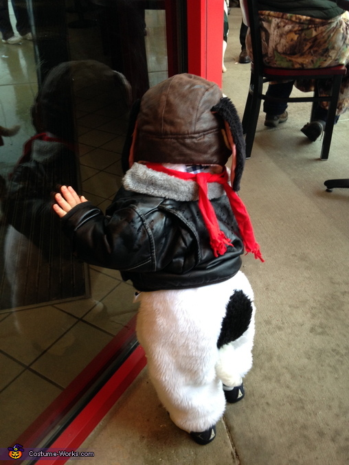 Snoopy's costume as seen from the back, Snoopy & Woodstock vs. The Red Baron Costume