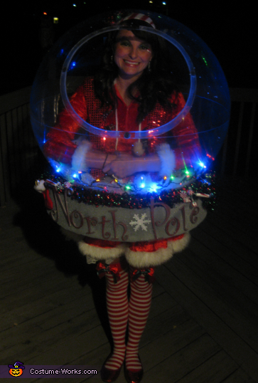 Globe with the lights on , Snow Globe Costume (That really snows!)