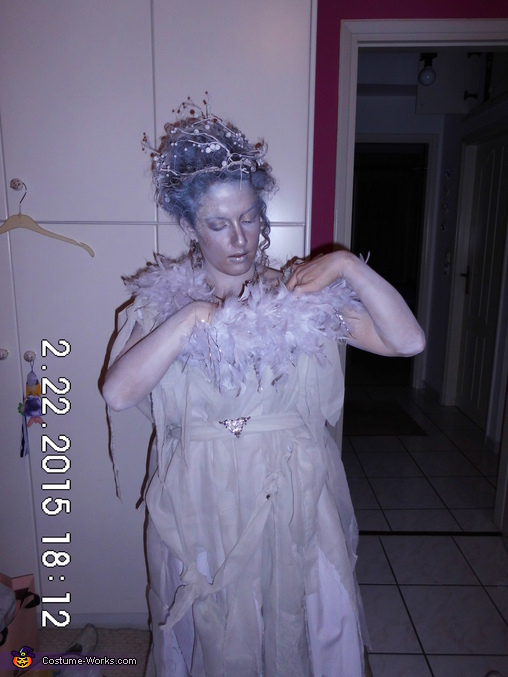 Homemade Snow Queen Costume