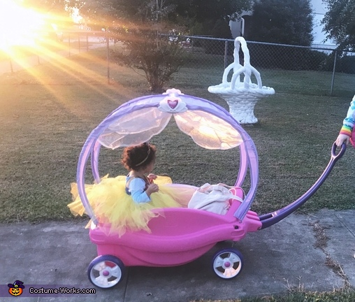 The princess riding off into the sunset, Snow White Costume