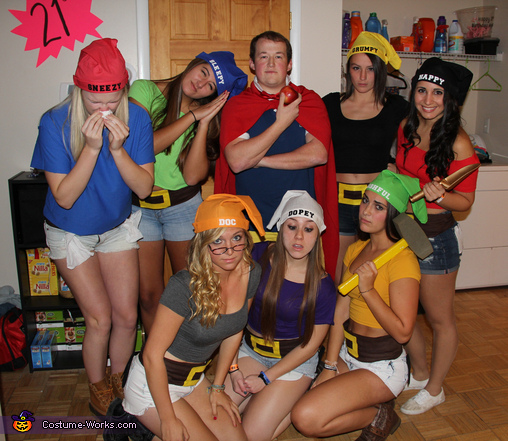 Off to work we go.., Snow White and his Seven Dwarfs Group Costume