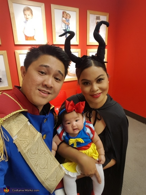 Snow white, her Prince and Maleficent Family Costume
