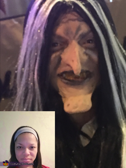 Before & after, Snow White Old Peddler Woman Costume