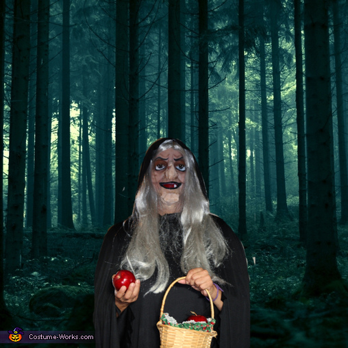 Photoshopped background, Snow White Witch Costume