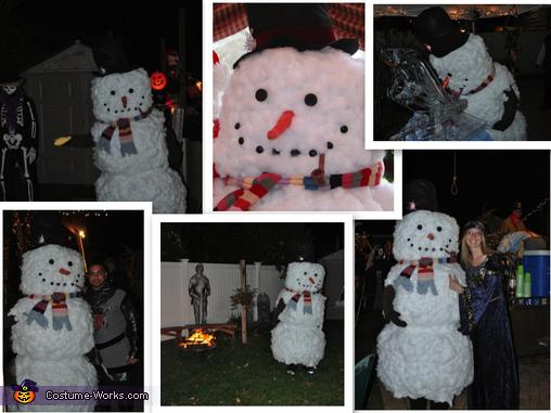 Homemade Snowman Costume