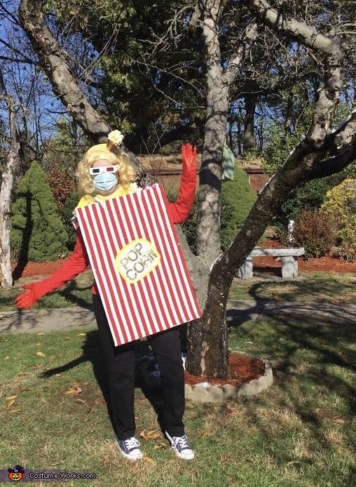 Socially Distancing Popcorn Costume