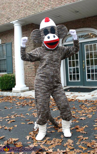 ce628ee7415 Sock Monkey Adult Costume