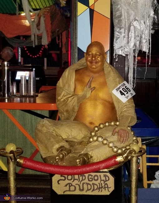 Solid Gold Buddha Costume