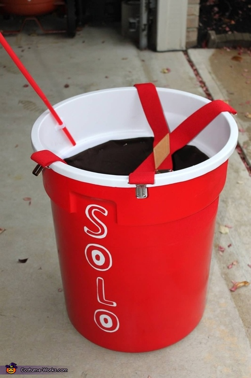Red SOLO cup with COKE, Solo Cup full of Coke Costume