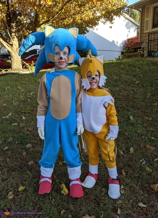 Sonic and Tails Homemade Costume
