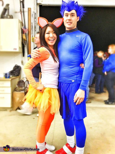 Sonic & Tails - Homemade costumes for couples